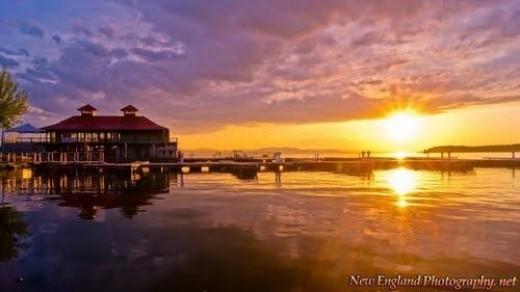 Burlington, VT sunset