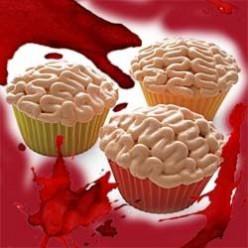 No Brainer Brain Cupcakes