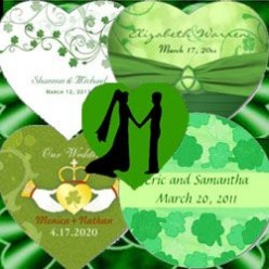 Irish Wedding Stickers