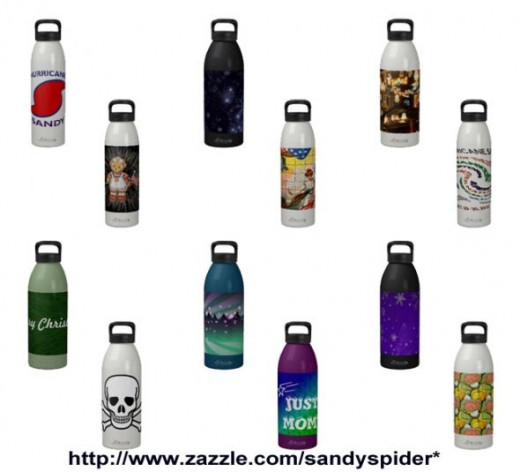 Sandyspider Water Bottles on Zazzle