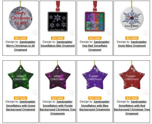 8 Christmas Ornaments