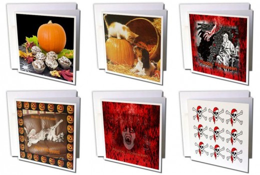 Halloween Cards Sandy Mertens on Amazon