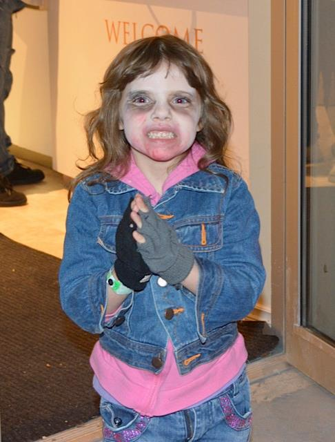 Our youngest zombie walker.