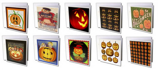 Some Jack o' Lantern cards that are available