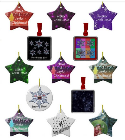 Snowflakes and Star Ornaments