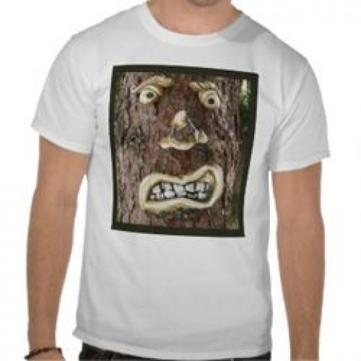 Angry Face Tree Tees by Sandyspider Gifts on Zazzle