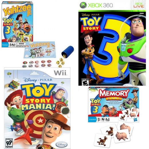 Toy Story Board and Video Games on Amazon