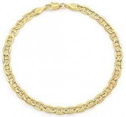 14k Yellow Gold Italian Mariner Chain Necklace
