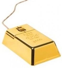 Gold Rush Mouse - Gold Bar Bullion USB Computer Mouse