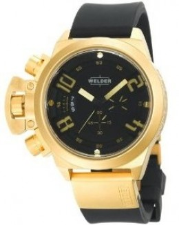 Gold Ion-Plated Stainless Steel Round Watch