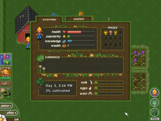 Alice Greenfingers - Stats and Awards Screen