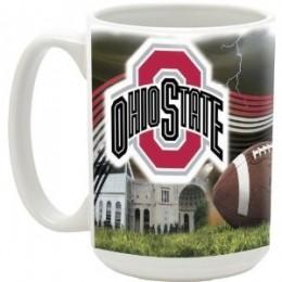 NCAA Ohio State University 15-Ounce Stadium Series Ceramic Mug
