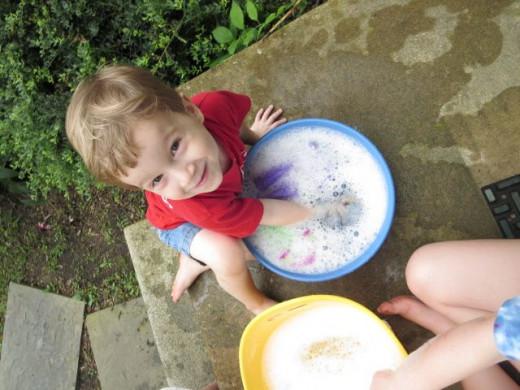 Loving the bubbly water bin