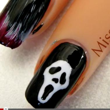 Scream inspired Halloween manicure tutorial