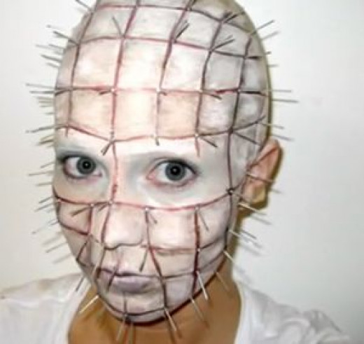 DIY Pinhead Hellraiser Halloween makeup tutorial video