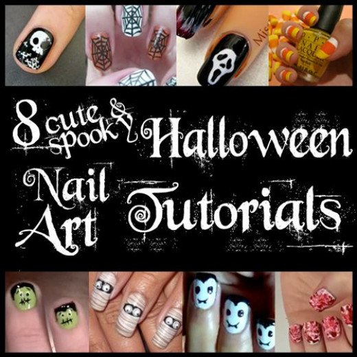 8 Cute & Spooky Halloween Nail Art Manicure Tutorials