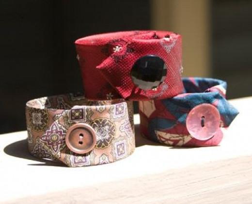 tie bracelets, necktie crafts, diy bracelets, tie cuff bracelet, men's tie, upcycled crafts