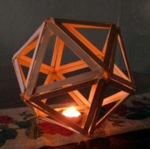 DIY popsicle stick icosahedron tutorial