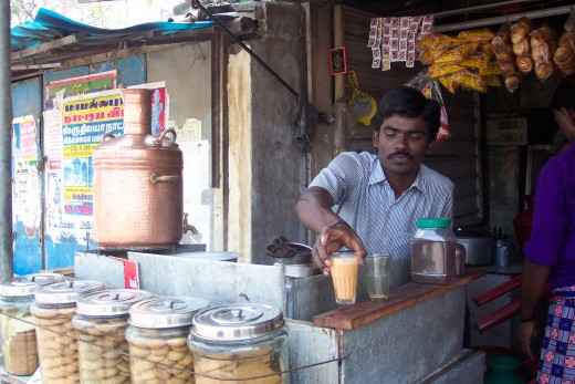 A handsome Chai seller in India