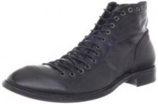 Jo Ghost Men's 1838 Indio Calf Nero Lavato Boot