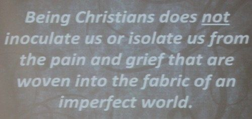 Quote - Christians are not immune to the suffering that is in the world