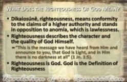 God's Righteousness