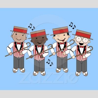 Cute Little Barbershop Quartett
