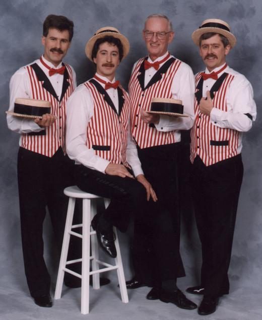 A barbershop quartet