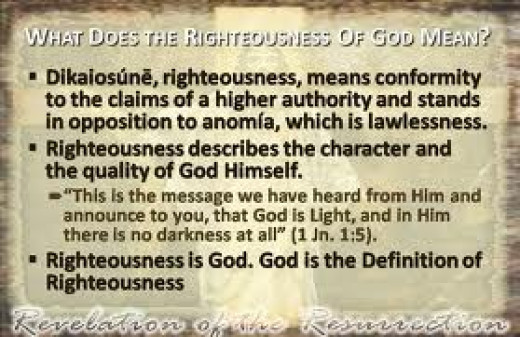 God's righteousness defined