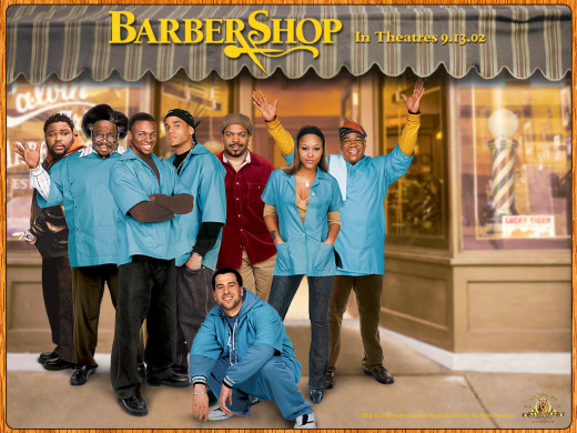 Barbershop, the movie poster.  (This movie contains NO barbershop quartet music.  I just thought the poster made a nice picture.)