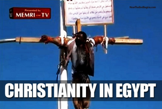 What was this man's crime? Being a Christian in a country where the Muslim Brotherhood is in power-- Egypt.