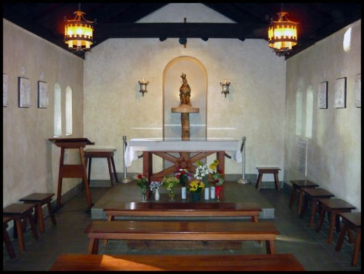 Inside Our Lady of La Leche Shrine; St. Augustine, Florida