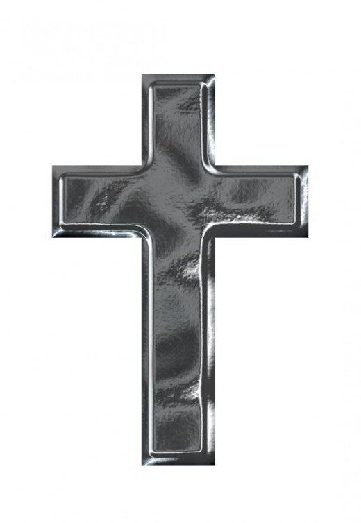 Chrome Cross Clipart