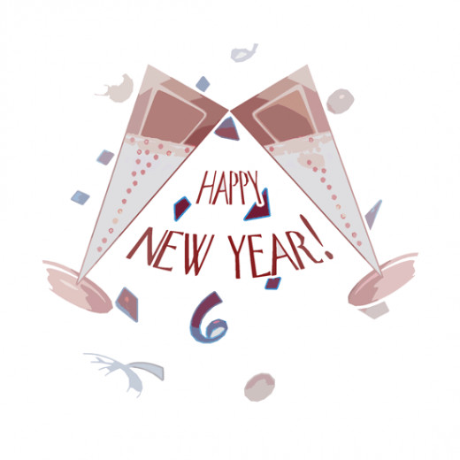 Happy New Year Toast Cheers Clip Art Free