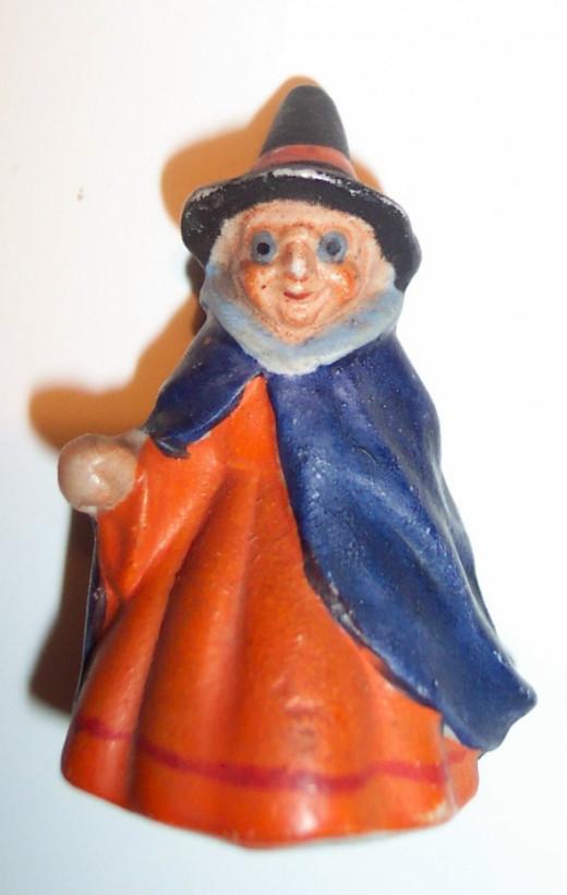 Vintage Halloween Porcelain Witch