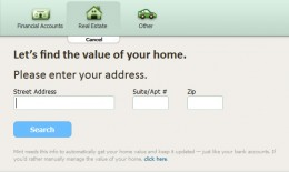 Figure 1.1: Adding your house to the list of assets