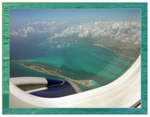View from the plane Cancun, Mexico