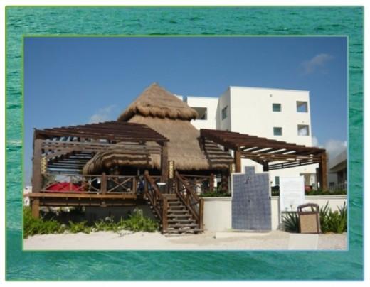 Tiki Bar on the beach.