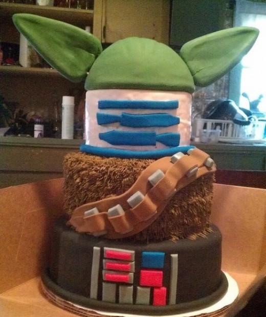 Star Wars Mashup cake via Pinterest