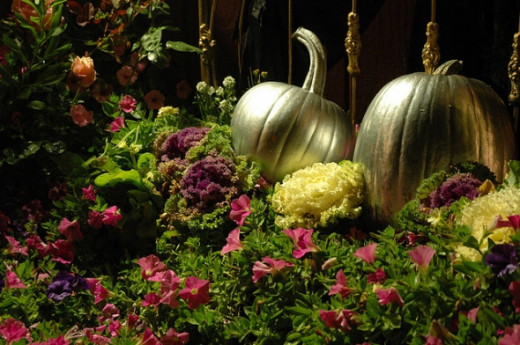 Cinderella's Silver Halloween Pumpkins