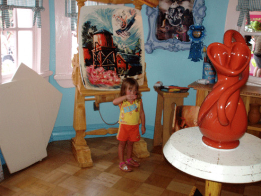 Minnie's house. Her art studio.