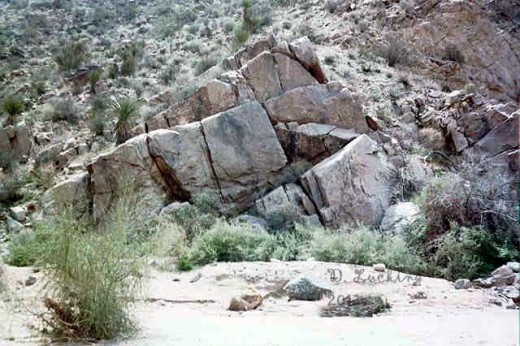 A nice looking rock formation in the southern part of Joshua Tree Park.