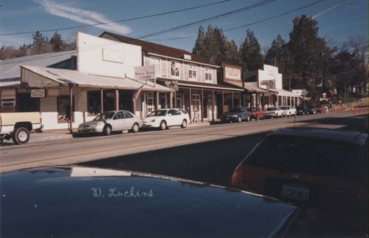 Julian, CA, downtown in the 90s.