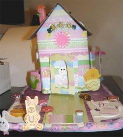Hand Made, Whimsical Easter Bunny House