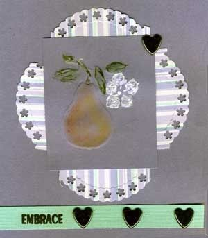 Embossed Card with Pear