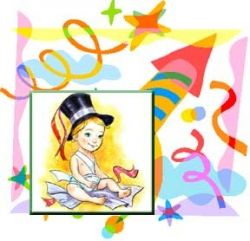 Clip Art Showing New Year Baby