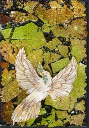 Dove of Peace on Eggshell Mosaic