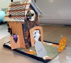 Halloween House Craft Project