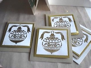 Christmas Card with Heat Embossing made from Brass Template
