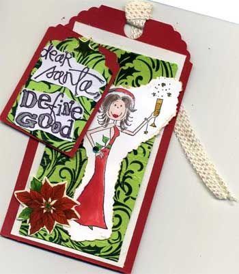Dear Santa Define Good Tag